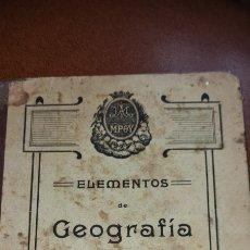 Libros antiguos: ELEMENTOS DE GEOGRAFÍA SEGUN EL SISTEMA CICLICO. P. JUAN AMBRÓS. 1913. Lote 267598814