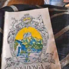 Libros antiguos: COVADONGA EN LA MANO ,GUIA DEL SANTUARIO DE 1927. Lote 269841308