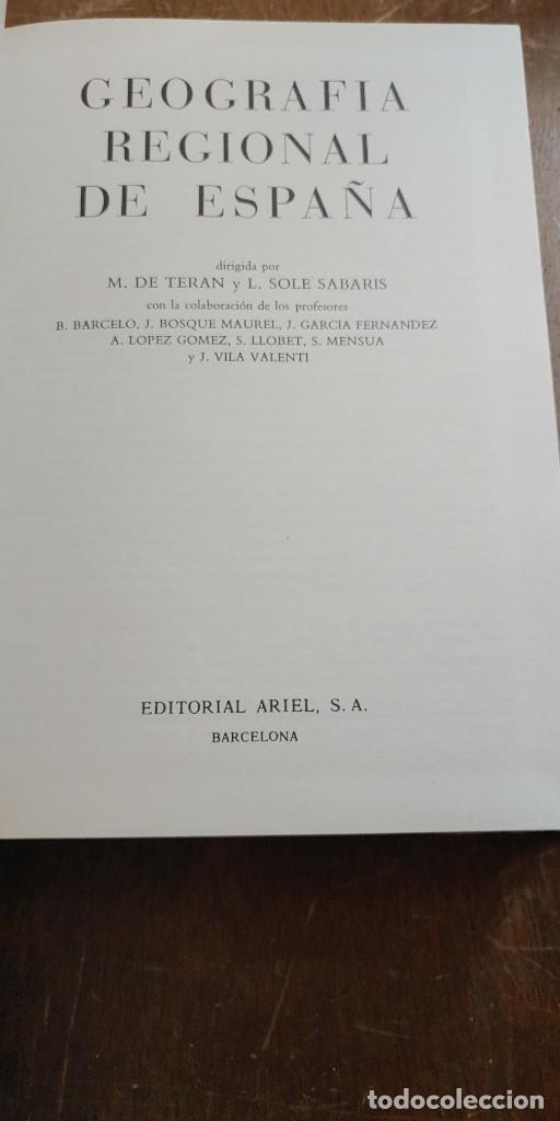 Libros antiguos: Geografia regional de España, tomó II, M.de Toran, pymy 6 - Foto 2 - 269850983