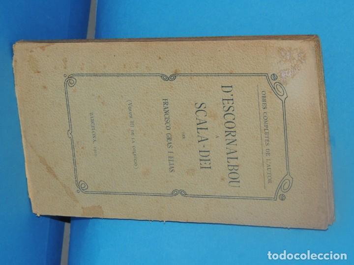 Libros antiguos: DESCORNALBOU A SCALA-DEI.- FRANCISCO GRAS I ELIAS - Foto 2 - 269851733
