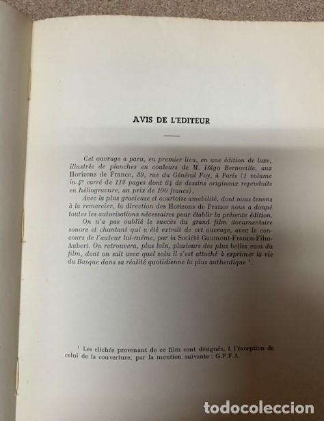 Libros antiguos: LE PAYS DES BASQUES - GAËTAN BERNOVILLE - Foto 7 - 269958983