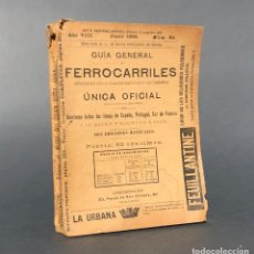 Libros antiguos: 1899 - GUIA GENERAL DE FERROCARRILES - ESPAÑA, PORTUGAL Y SUR DE FRANCIA. Lote 270086983