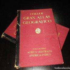 Libros antiguos: GRAN ATLAS GEOGRÁFICO STIELER. 1932. EDICIÓN DEL CENTENARIO EN DOS TOMOS. JUSTUS PERTHES.. Lote 270644733