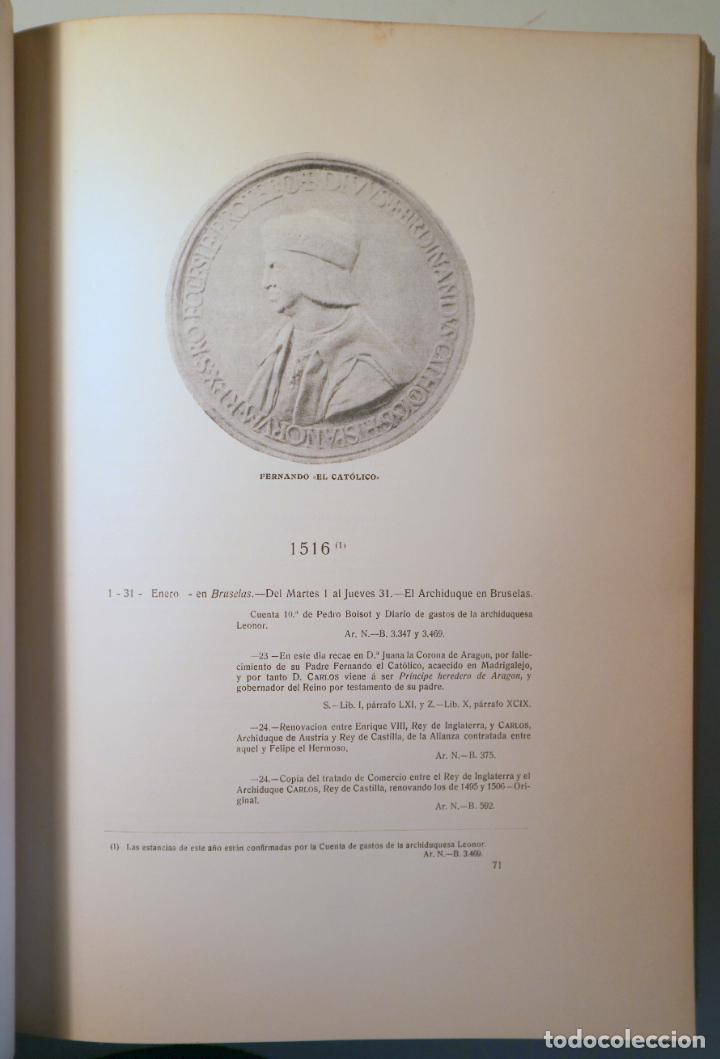 Libros antiguos: FORONDA Y AGUILERA, Manuel de - ESTANCIAS Y VIAJES DEL EMPERADOR CARLOS V - Madrid 1914 - Foto 4 - 271129873