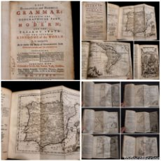 Libros antiguos: THE NEW GEOGRAPHICAL & HISTORICAL GRAMMAR 1752 THOMAS SALMON, DUBLIN 22 MAPAS MAPS (COMPLETO). Lote 272297793