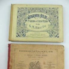Livres anciens: 2 ATLASES GEOGRAFIA ATLAS 2 GRADO O CURSO MEDIO. Lote 276000928