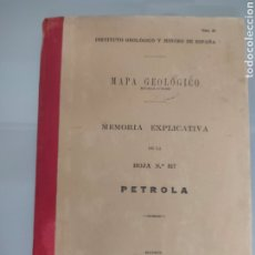 Libros antiguos: ANTIGUO MAPA GEOLÓGICO DE ESPAÑA PÈTROLA ALBACETE 1931 N°817 MAPAS. Lote 276259943