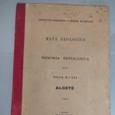 Libros antiguos: ANTIGUO MAPA GEOLÓGICO DE ESPAÑA ALGETE MADRID 1929 N°535 MAPAS. Lote 276358728