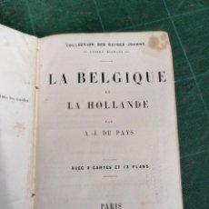 Libros antiguos: BELGIQUE ET HOLLAND. GUIDES DIAMANT. Lote 276450118