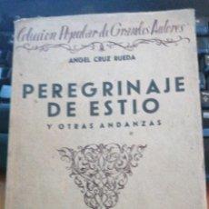 Libros antiguos: PEREGRINAJES DE ESTÍO ( POR ARAGÓN. FRANCIA Y GUIPÚZCOA) Y OTRAS ANDANZAS - ÁNGEL CRUZ RUEDA. 1934 B. Lote 276803278