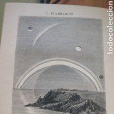 Libros antiguos: CAMILO. FLAMMARION. LOS MUNDOS IMAGINARIOS Y LOS MUNDOS REALES : VIAJE PINTORESCO AL CIELO Y REVISTA. Lote 276914978