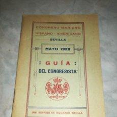Libros antiguos: CONGRESO MARIANO HISPANO-AMERICANO DE SEVILLA-MAYO 1929. Lote 276938768