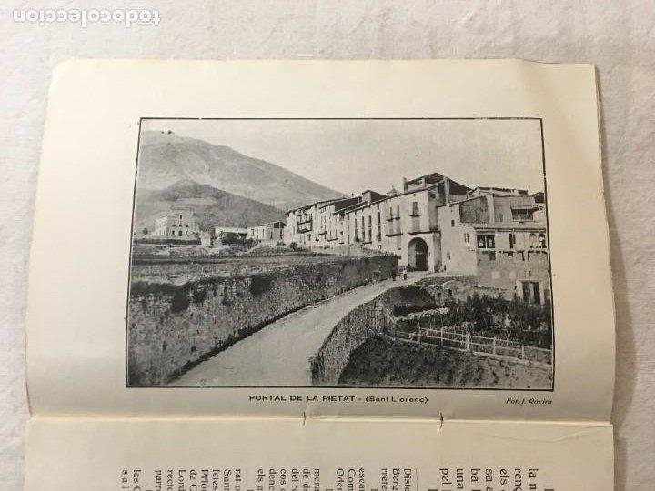 Libros antiguos: Josep de Rovira Cabanas. Assaig Históric de La Capella de la Pietat de Sant Llorenç de Morunys. 1925 - Foto 4 - 276992388