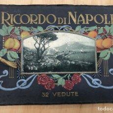 Libros antiguos: ALBUM RECUERDO DE NAPOLES. RICORDO DI NAPOLI. 32 VISTAS. C. 1930. Lote 277012908