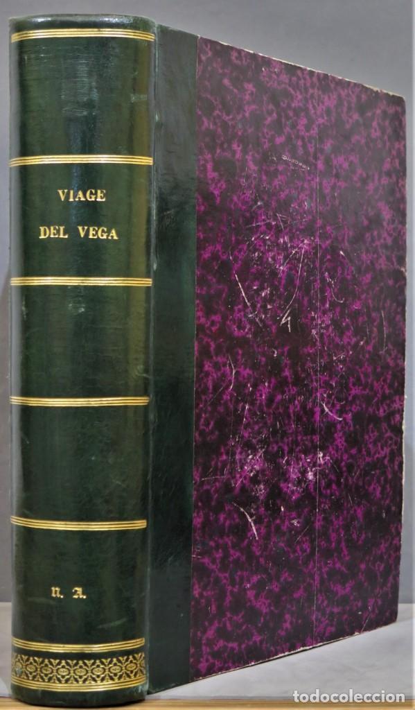 1882.- CIRCUNNAVEGACION DEL ASIA Y EUROPA, VIAJE DEL VEGA. NORDENSKIOLD (Libros Antiguos, Raros y Curiosos - Geografía y Viajes)