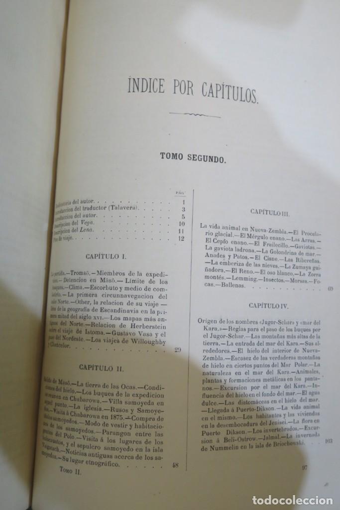 Libros antiguos: 1882.- CIRCUNNAVEGACION DEL ASIA Y EUROPA, VIAJE DEL VEGA. NORDENSKIOLD - Foto 4 - 277079068
