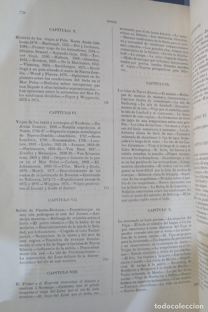 Libros antiguos: 1882.- CIRCUNNAVEGACION DEL ASIA Y EUROPA, VIAJE DEL VEGA. NORDENSKIOLD - Foto 5 - 277079068