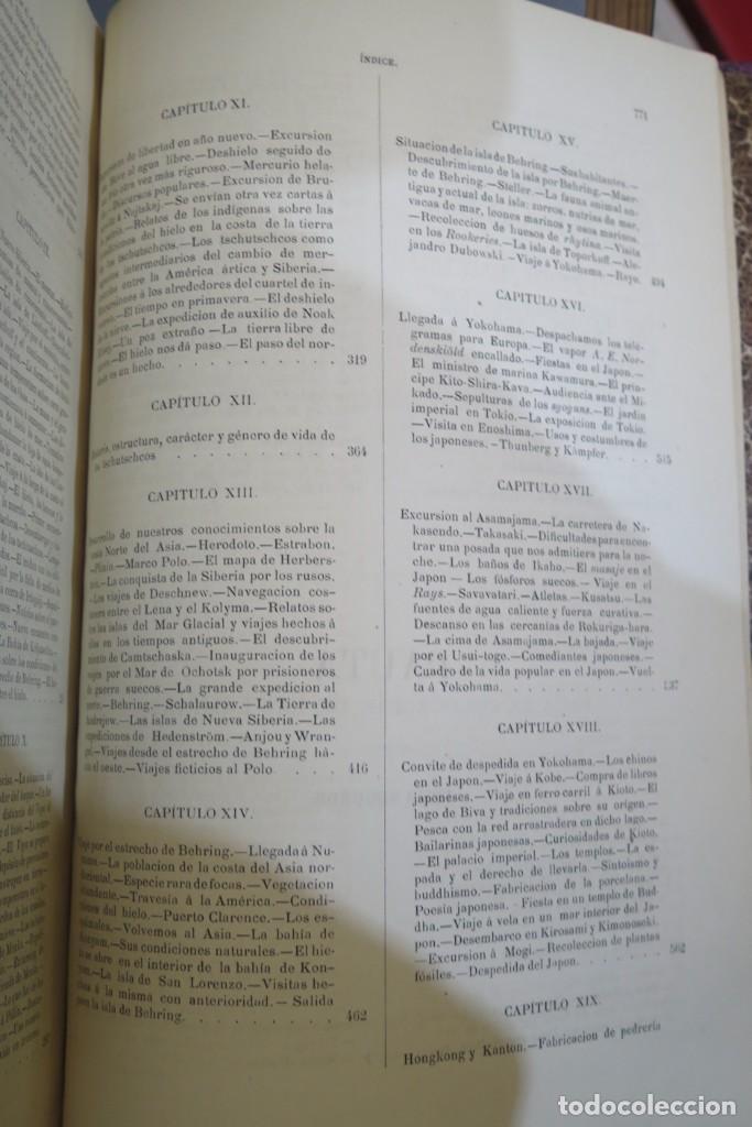 Libros antiguos: 1882.- CIRCUNNAVEGACION DEL ASIA Y EUROPA, VIAJE DEL VEGA. NORDENSKIOLD - Foto 6 - 277079068