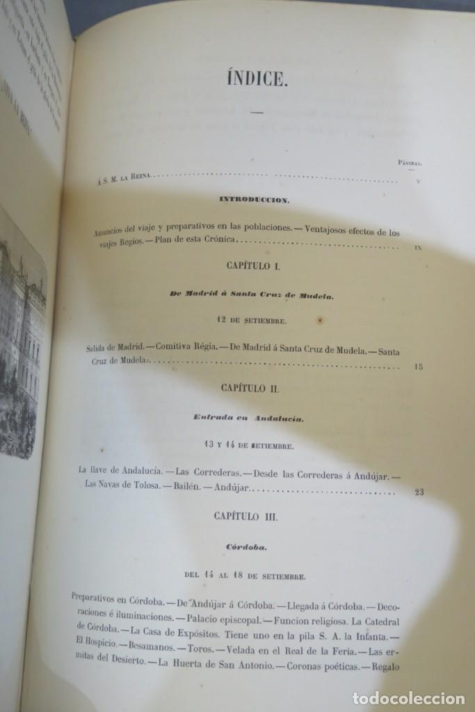Libros antiguos: 1863.- CRONICA DEL VIAJE DE SS.MM Y AA.RR A ANDALUCIA Y MURCIA. COS-AYON - Foto 5 - 277079433