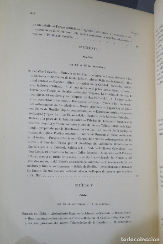 Libros antiguos: 1863.- CRONICA DEL VIAJE DE SS.MM Y AA.RR A ANDALUCIA Y MURCIA. COS-AYON - Foto 6 - 277079433