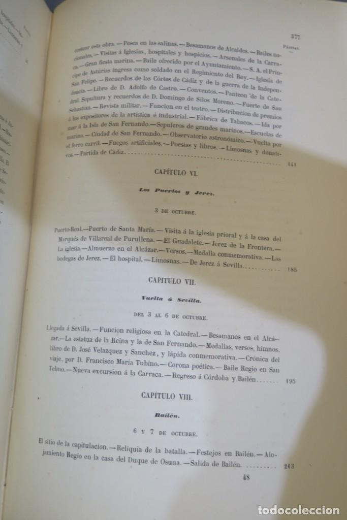 Libros antiguos: 1863.- CRONICA DEL VIAJE DE SS.MM Y AA.RR A ANDALUCIA Y MURCIA. COS-AYON - Foto 7 - 277079433