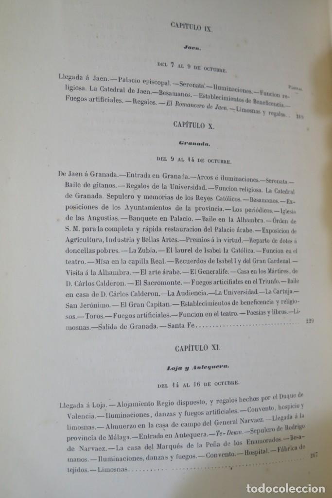 Libros antiguos: 1863.- CRONICA DEL VIAJE DE SS.MM Y AA.RR A ANDALUCIA Y MURCIA. COS-AYON - Foto 8 - 277079433