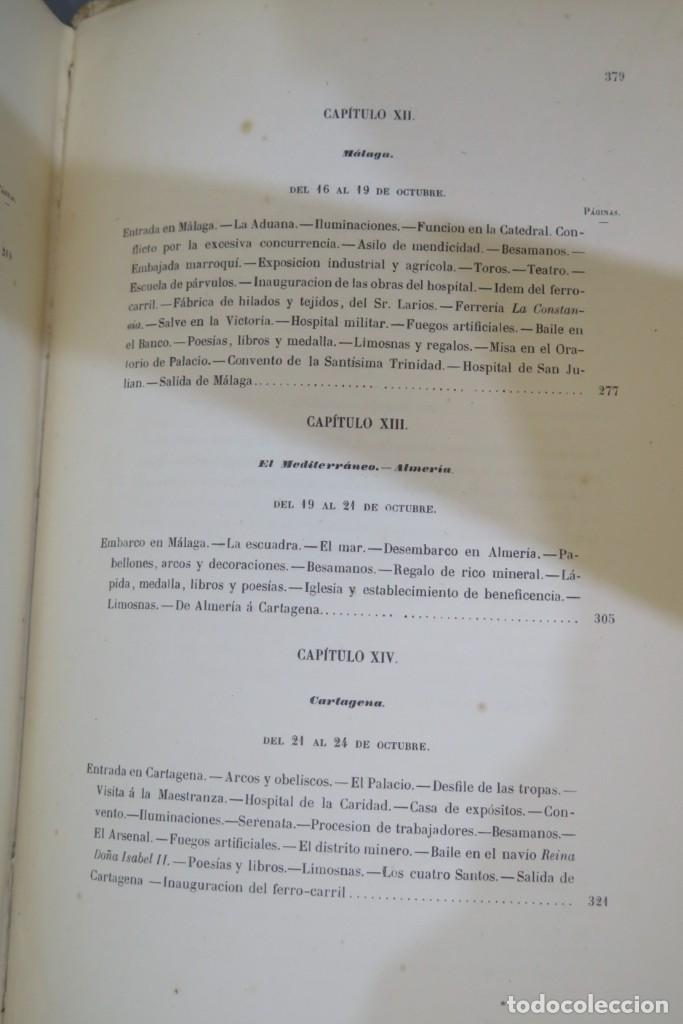 Libros antiguos: 1863.- CRONICA DEL VIAJE DE SS.MM Y AA.RR A ANDALUCIA Y MURCIA. COS-AYON - Foto 9 - 277079433