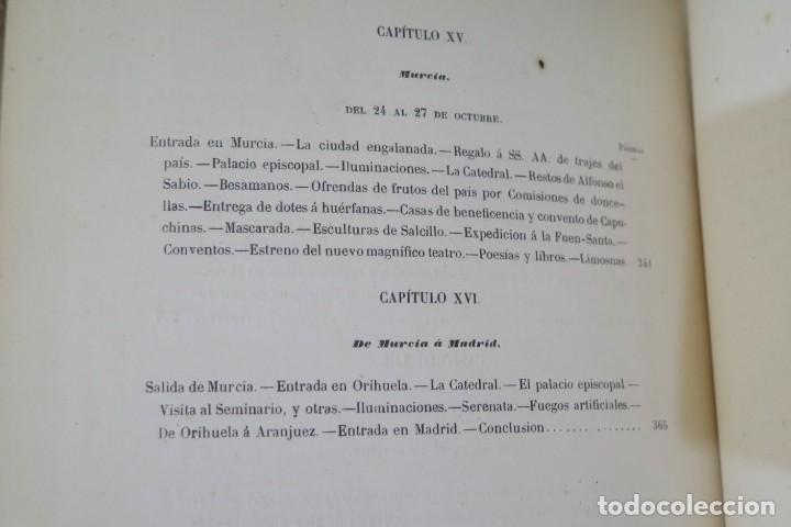 Libros antiguos: 1863.- CRONICA DEL VIAJE DE SS.MM Y AA.RR A ANDALUCIA Y MURCIA. COS-AYON - Foto 10 - 277079433