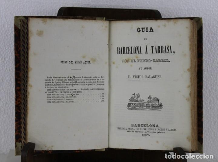GUÍA FERRO-CARRIL DE BARCELONA Á ARENYS, MARTORELL, TARRASSA, GRANOLLERS. VÍCTOR BALAGUER 1857 (Libros Antiguos, Raros y Curiosos - Geografía y Viajes)