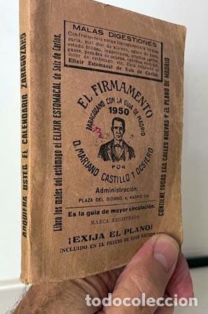 Libros antiguos: El Firmamanto Zaragozano con la Guía de Madrid (1950) Callejero, Establecimientos, Transportes, Ette - Foto 2 - 278941613