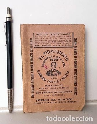 Libros antiguos: El Firmamanto Zaragozano con la Guía de Madrid (1950) Callejero, Establecimientos, Transportes, Ette - Foto 3 - 278941613