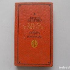 Libros antiguos: LIBRERIA GHOTICA. JUSTUS PERTHES. ATLAS PORTATIL. DE ESPAÑA Y PORTUGAL.1938. MULTITUD DE MAPAS.. Lote 285592938