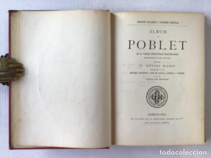 Libros antiguos: ÁLBUM DE POBLET. - MASSÓ, Antoni. - Foto 2 - 286639838