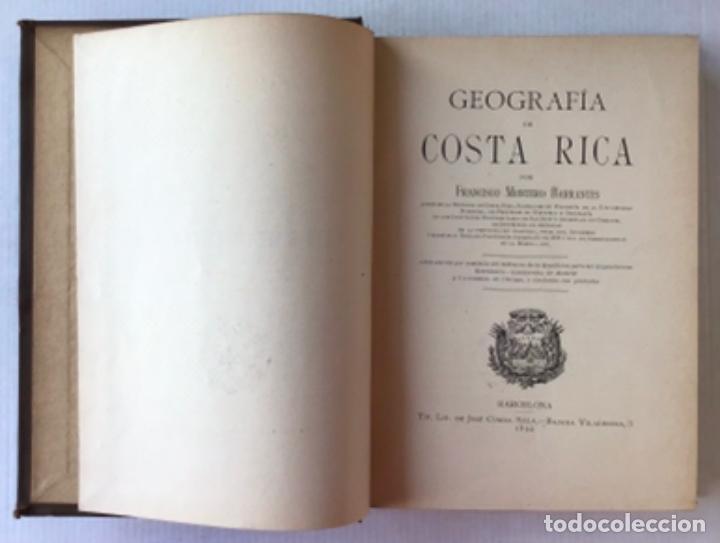 Libros antiguos: GEOGRAFÍA DE COSTA RICA. - MONTERO BARRANTES, Francisco. - Foto 2 - 286797808
