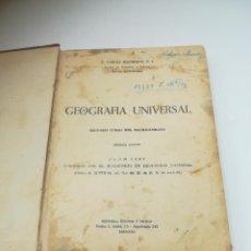 Libros antiguos: GEOGRAFIA UNIVERSAL. 2º CURSO BACHILLERATO. ED HECHOS Y DICHOS. ZARAGOZA. 2º ED. SUBRAYADOS. VER. Lote 288903098