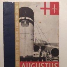 Livros antigos: ANTIGUO LIBRETO INFORMATIVO PARA LOS PASAJEROS QUE VIAJABAN EN EL AUGUSTUS. Lote 292929558