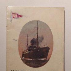 Livros antigos: ANTIGUO LIBRETO INFORMATIVO PARA LOS PASAJEROS QUE VIAJABAN CON LA COMPAÑIA TRASMEDITERRANEA 1926. Lote 292939083