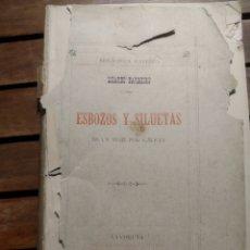 Libros antiguos: ESBOZOS Y SILUETASDE UN VIAJE POR GALICIA / LISARDO BARREIRO. LA CORUÑA : ANDRÉS MARTÍNEZ 1890. Lote 295641023