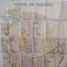 Libros antiguos: PLANO DE MADRID DE 1910. Lote 296625248