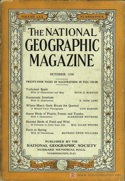 Libros antiguos: 1936 - RARO - Guerra Civil Española - NATIONAL GEOGRAPHIC - Foto 2 - 17022537