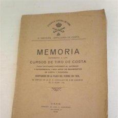 Libros antiguos: LIBRO MILITAR MEMORIA CURSO DE TIRO 1926. Lote 21124966