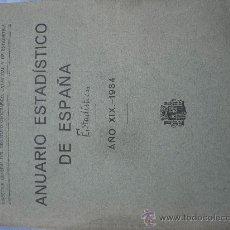 Libros antiguos: 1934.ANUARIO ESTADISTICO DE ESPAÑA. 900 PÁGINAS. IMPECABLE. Lote 26759148