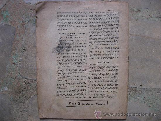 Libros antiguos: INFORMACION JURIDICA Nº 6,MADRID 1 DE OCTUBRE DE 1941.POST-GUERRA CIVIL.24 PAGINAS. - Foto 2 - 27916764