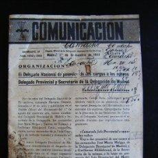 Libros antiguos: ANTIGUO BOLETÍN GUERRA COMUNICACIÓN. DELEGACIÓN EX-CAUTIVOS DE GUERRA.FALANGE. Nº3 . Lote 31723777