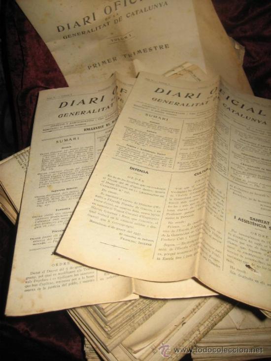Libros antiguos: DIARI OFICIAL GENERALITAT DE CATALUNYA : MÁS DE 200 NÚMEROS EDITADOS ENTRE JULIO 1936 Y ENERO 1937 - Foto 2 - 37134998