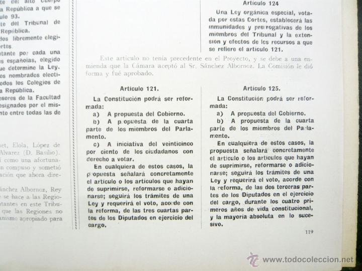 Libros antiguos: REPUBLICA ESPAÑOLA.CORTES CONSTITUYENTES 1931 / ED. RIVAS / ED. ORIGINAL/ PRECIOSO-!! - Foto 4 - 44075215