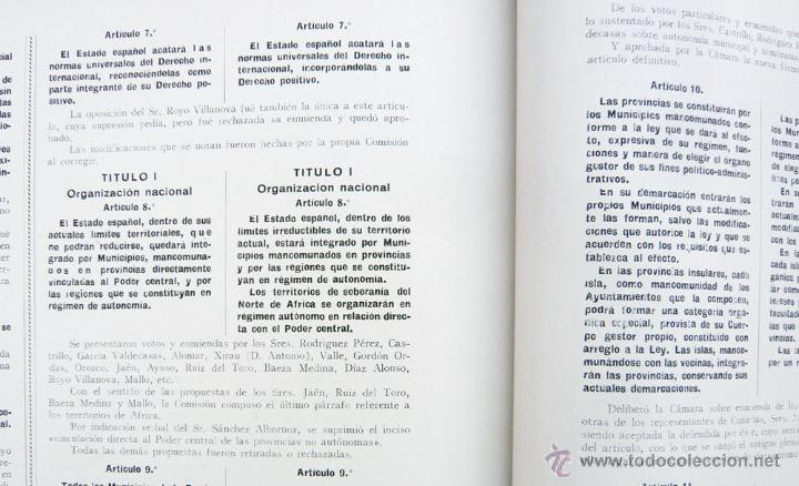 Libros antiguos: REPUBLICA ESPAÑOLA.CORTES CONSTITUYENTES 1931 / ED. RIVAS / ED. ORIGINAL/ PRECIOSO-!! - Foto 5 - 44075215
