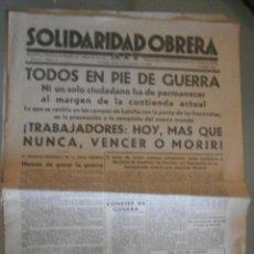 Libros antiguos: SOLIDARIDAD OBRERA. AIT. 5 DE NOVIEMBRE 1936. Lote 46896276