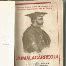 Libros antiguos: ZUMALACÁRREGUI. C.F.HENNINGSEN. 1937. Lote 51093567