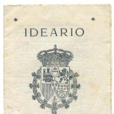 Livros antigos: IDEARIO CARLISTA, POR JAIME DEL BURGO, 1937. SIN PIE DE IMPRENTA, 14 PÁGS.. Lote 51346954
